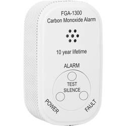 Detektor oxidu uhoľnatého oxidu uhoľnatého (CO) vr. batérie so životnosťou 10 rokov, s interným senzorom Smartwares FGA-13000, na batérie