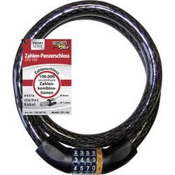 Lankový zámok Security Plus ZPS 100, čierna