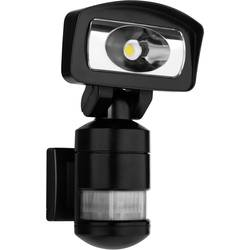 LED vonkajšie osvetlenie s PIR senzorom Smartwares FSL-80114, 16 W, neutrálne biela, čierna