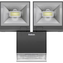 LED vonkajšie osvetlenie s PIR senzorom Theben theLeda S20 W BK 1020934, 20 W, biela, čierna